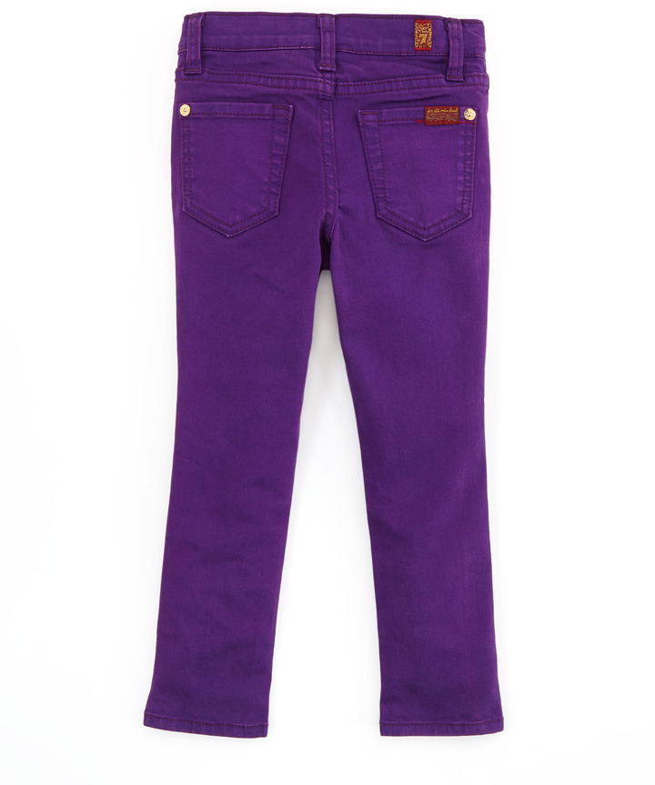 7 For All Mankind The Skinny Grape Royal, 2T-3T