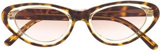 Prada Pre Owned 1990s Tortoiseshell Cat-Eye Sunglasses