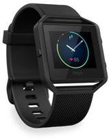 Fitbit Classic Blaze Large Gunmetal-Tone Fitness Watch