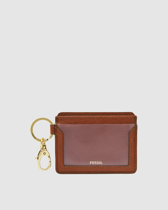 Fossil Lee Brown Card Case