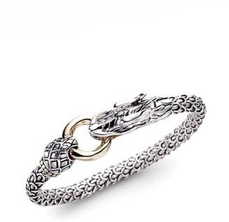 John Hardy Legends Naga 18K Yellow Gold & Sterling Silver Dragon Bracelet