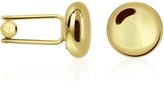Forzieri Round Gold Plated Classic Cufflinks