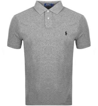 Ralph Lauren Custom Slim Fit Polo T Shirt Grey
