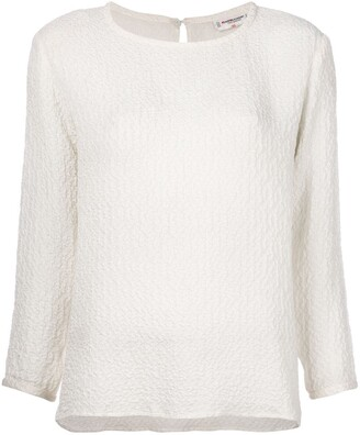 Saint Laurent Pre-Owned ruched detail top