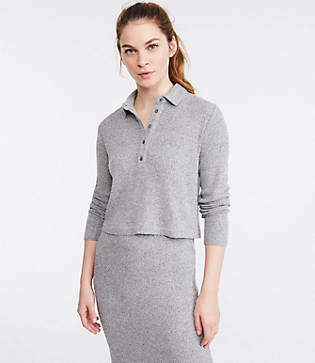 Lou & Grey Ribbed Brushed Henley Top