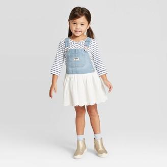 Osh Kosh Toddler Girls' Eyelet Skirtall - Light