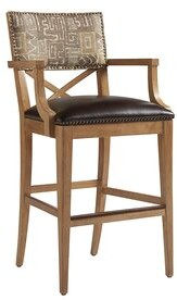 "Tommy Bahama LosAltos Bar & Counter Stool Home Seat Height: Bar Stool (30"" Seat Height)"