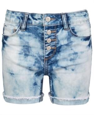 Imperial Star Big Girls Cloudy-Wash Denim Shorts