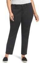 Sejour Plus Size Women's Stretch Cotton Ankle Pants