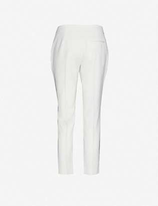 Alexander McQueen Cigarette slim-leg mid-rise wool trousers