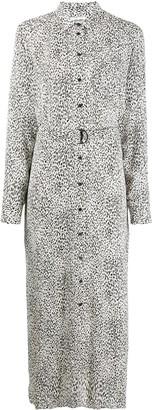 Kenzo Leopard printed shirt dress