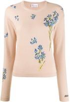 RED Valentino jacquard-knit floral jumper