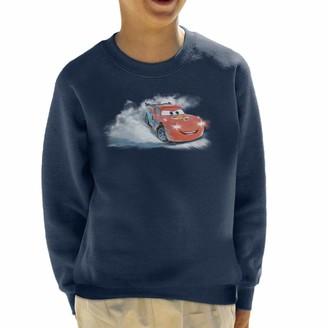 Disney Christmas Cars Lightning McQueen Snowy Skid Kid's Sweatshirt Navy Blue