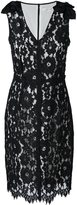 Marc Jacobs floral lace midi dress - women - Silk/Cotton/Nylon/Rayon - 2