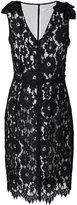 Marc Jacobs floral lace midi dress - women - Silk/Nylon/Rayon/Polyester - 2