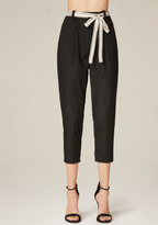 Bebe Tie Belt Crop Pants