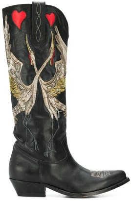 Golden Goose Embroidered Pointed Boots