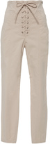 A.L.C. Kyle High-Rise Lace-Up Skinny Pant