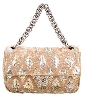 Chanel Soft & Chain Python Crochet Flap Bag