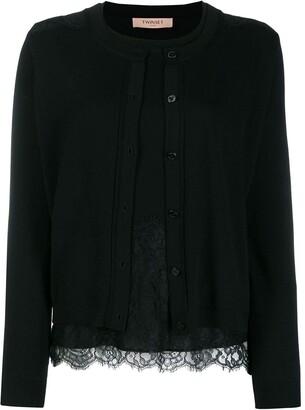 Twin-Set Lace Cardigan Top