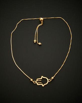 Italian Gold 14K Hamsa Bolo Adjustable Bracelet