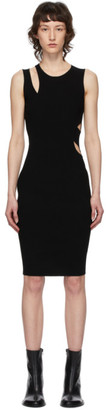 Helmut Lang Black Layered Slash Tank Dress