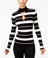 INC International Concepts Striped Keyhole Sweater, Only at Macy's