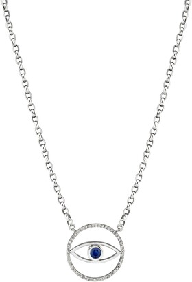 Sheryl Lowe Evil Eye Sapphire & Diamond Pendant Necklace