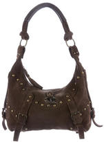 Just Cavalli Studded Suede Shoulder Bag