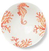 Vietri Costiera Coral Seahorse Medium Serving Bowl