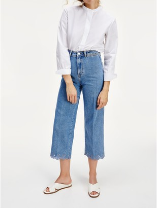 Tommy Hilfiger Cropped Scalloped Hem Jean