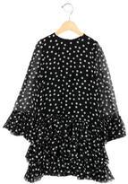 Dolce & Gabbana Girls' Silk Polka Dot Dress