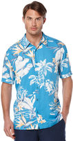 Cubavera Big & Tall Short Sleeve Allover Tropical Print