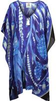 Figue Sade Embellished Printed Cotton-Blend Broadcloth Kaftan