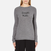 Bella Freud Women's Political Merino Wool Jumper Grey