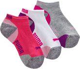 Puma Mesh Top Girls' Low Cut Socks (3 Pack)
