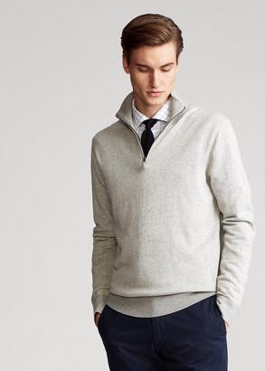 Ralph Lauren Birdseye Cotton-Blend Sweater