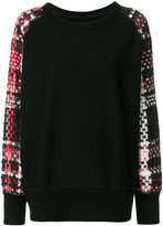 Rag & Bone woven pattern sleeve jumper