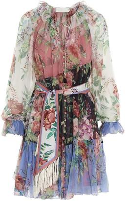 Zimmermann Bellitude Spliced Mini Dress