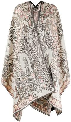 Etro Paisley Print Cape Coat