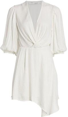 IRO Going Sequin V-Neck Knot Mini Asymmetric Dress