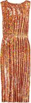 Nina Ricci Iridescent sequined georgette dress