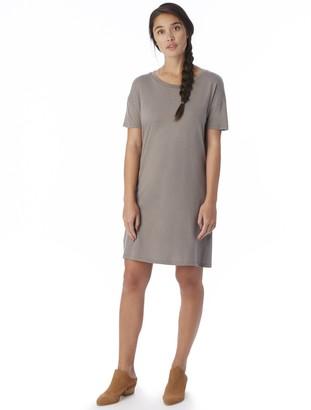 Alternative Women's Cotton Modal Short Sleeve Straight Up T-Shirt Dress