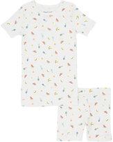 Skylar Luna Fruit-Print Organic Cotton Pajama Set