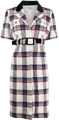 Chanel Pre Owned 2007 Checked Shirt Dress