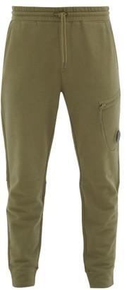 C.P. Company Pocket-lens Cotton-jersey Track Pants - Mens - Dark Green