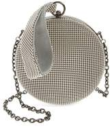 Whiting & Davis Canteen Mesh Ball Minaudiere - Grey
