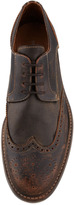 John Varvatos College Leather Wing-Tip, Brown