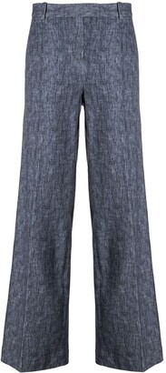 Circolo 1901 High-Waisted Chambray Trousers