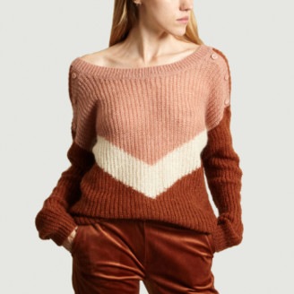 La Petite Francaise Tricolor Mohair Wool and Nylon Landscape Sweater - 2 | nylon | mohair wool